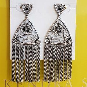 New Kendra Scott Ana Earrings- Silver